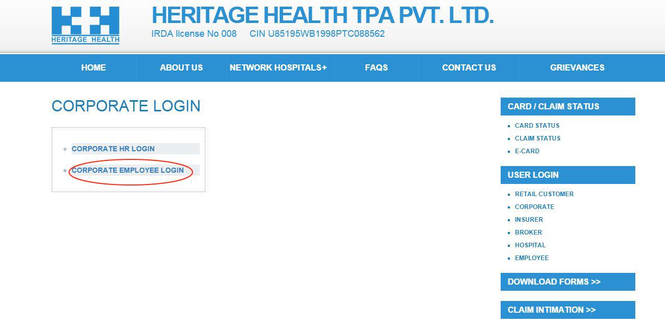 heritage tpa claim status